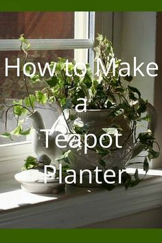 Don't throw out that old cracked teapot. Use it to make a teapot planter. | Super Mom - No Cape!
