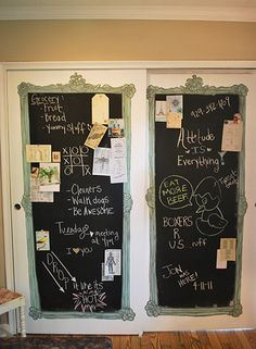 Chalk board doors!