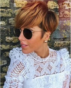 Likes, 78 Comments – L a l e e 🌿🌸 Pixie Hairstyles, Pixie Haircut, Trendy Hairstyles, Wedding Hairstyles, Chic Short Hair, Short Hair Cuts, Pixie Styles, Curly Hair Styles, Copper Balayage