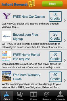 Instant rewards- List of Offers & Tasks to Earn Cash!