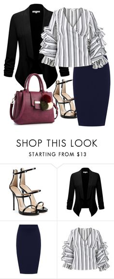 """""""I'm heading to work"""" by eledonoghue ❤ liked on Polyvore featuring Giuseppe Zanotti, WearAll, Caroline Constas and plus size clothing"""