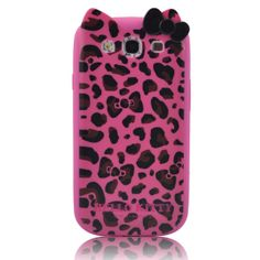 Leopard Pink Hello Kitty Character with Ears TPU Leopard Printed Samsung Galaxy S3 S III i9300--This Leopard Pink Hello Kitty Character with Ears TPU Leopard Printed Samsung Galaxy S3 S III i9300 ensures fine craftsmanship, durable construction, stylish look, and all-around protection while maintaining accessibility of functions.