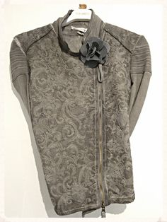 Elisa Cavaletti embroidered jacket (was £179.95) £149.95 Noa Noa Brooch (was £19) £5.70  http://www.exivboutique.co.uk/item/37115/embroidered-side-zip-jacket