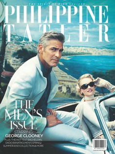 Love this cover of George Clooney and Gemma Ward for the April 2012 issue of the The Philippine Tatler.