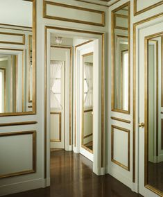Mint green room. Victorian. Antique. Mint green and gold. Gold trim. Painting tips.