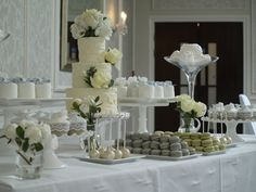 Rustic cake table display