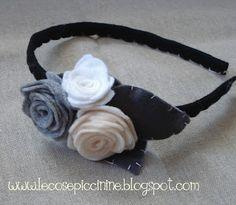 Le cose piccinine: La festa in testa: Cerchietti per capelli in lino e pannolenci