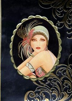 When I started this page I was just going to feature Art Deco (hence the name) but after a while I decided to include Art Nouveau,. Vintage Art, Art Deco Illustration, Painting, Illustration Art, Poster Art, Art, Art Deco Cards, Prints, Love Art
