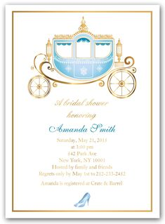 an idea for cinderella themed wedding invitations really cute and, invitation samples