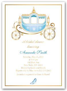 """Cinderella Shower"" Bridal Shower Invitations"