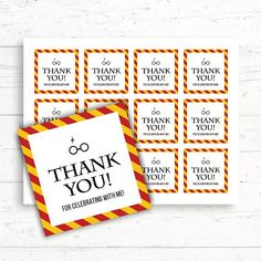 Harry Potter Gryffindor Baby Shower Bridal Shower Birthday Wedding Thank you Favor Tags by CrissyDesignCo Bridal Bingo, Bridal Shower Games, Baby Shower Parties, Baby Shower Themes, Shower Ideas, Baby Showers, Harry Potter Baby Shower, Harry Potter Wedding, Harry Potter Birthday