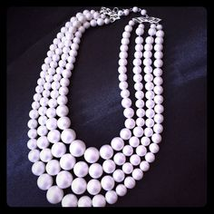 Vintage Coro Pearl necklace This amazing Vintage piece is made by Coro. It tiers down the neck to make an elegant look. Coro Jewelry Necklaces