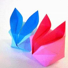 DIY Origami: DIY Origami Puffy Bunny Instructions