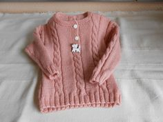 Baby sweater with button placket - petsupplies Handgestrickte Pullover, Cat Supplies, Baby Sweaters, Knit Crochet, Etsy, Buttons, Knitting, Fashion, Small Braids