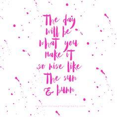 rise like the sun :: free memorable words monday printable