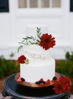 Jewel tone cake: www.stylemepretty... | Photography: Katie Parra - katieparra.com/
