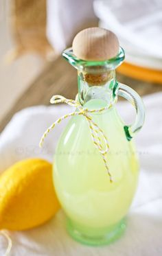 Simple Lemon Syrup - this is great added to ice water, ginger ale & more