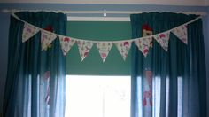 1st attempt at bunting - this is for kids room :-)