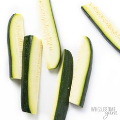 How To Roast Zucchini: Oven Roasted Zucchini Recipe | Wholesome Yum Roasted Zucchini Rounds, Roasted Zucchini Recipes, Oven Roasted Zucchini, Zucchini In The Oven, Zucchini Pizza Crust, Zucchini Sticks, Roast Zucchini, Bake Zucchini, Zucchini Squash