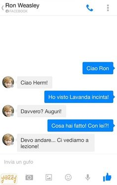 Normale chat tra Ron e Hermione