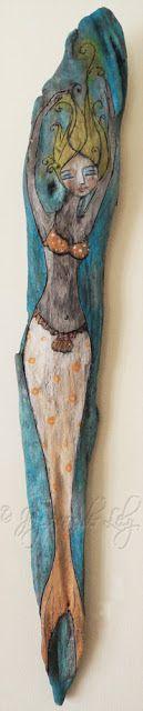 joyce van der lely - water angel on driftwood