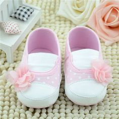 Toddler Baby Princess First Walkers Flower Crib Shoes Soft Sole Slippers Sneakers Shoes Baby Girls #Affiliate