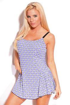 700c4f2f34d6e Dippin Daisys Swimwear One Piece Swimdress Rain Drops Blk Purple Plus Sizes  NWT