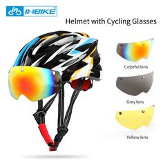 INBIKE Cycling Helmet Bicycle Helmet with Cycling Glasses Ultralight Integrally-molded Road MTB Helmet Casco Ciclismo IH16710 // FREE Worldwide Shipping! //     #hashtag4