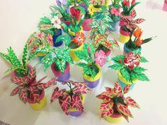 mini flowers from plastic bottle