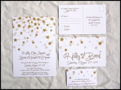 Falling Stars Wedding Invitation Set , NEW DESIGN by RunkPock Designs. $2.00, via Etsy.