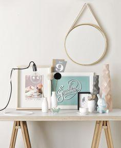cute desk or hall table idea