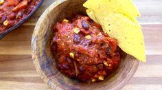 Chili Sin Carne - The Buddhist Chef Chili Vegan, Vegetarian Chili, Vegetarian Recipes, Plant Based Recipes, Raw Food Recipes, Cooking Recipes, Dinner Recipes, Healthy Recipes, Vegan Soups