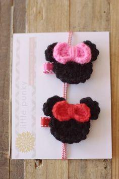 Crochet Hair Clip Girls Hair Clip Baby Hair Clip by littlepunky