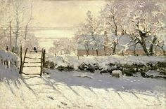 Claude Monet - The Magpie. The Magpie (French: La Pie) was painted by Monet during the winter of 1868–1869. Between 1867 and 1893, Monet and fellow Impressionists Alfred Sisley and Camille Pissarro painted hundreds of landscapes illustrating the natural effect of snow (effet de neige). The Magpie is one of approximately 140 snowscapes produced by Monet. The Magpie is Monet's largest winter painting.