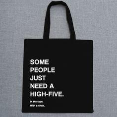 "Jutebeutel ""High Five"" // tote bag by Eulenschnitt Hamburg via DaWanda.com"