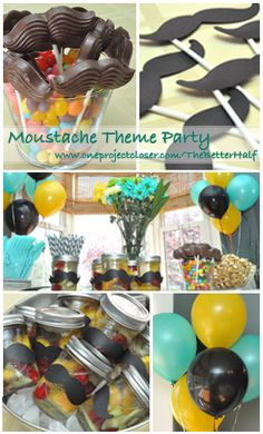 Mustache theme party!! such a fun time. would be a great party for adults or a baby boy. #photo booth ideas #games #decorations #food #DIY #caramel popcorn #drinks