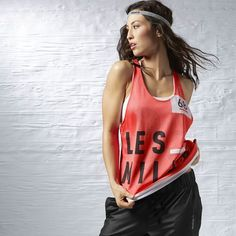 LM reversible mesh tank. Comfy, cute and two-in-one!