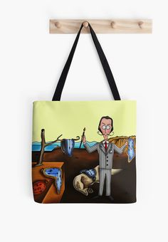 http://www.redbubble.com/people/mmducoing/works/14062721-salvador-dal-and-the-persistence-of-memory?p=tote-bag Salvador Dalí and The Persistence of Memory. #SalvadorDalí #SalvadorDali #Dali #ToteBag #Tote #PersistenceofMemory