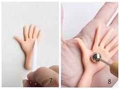 Cómo modelar una mano en fondant y pasta de goma
