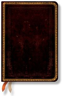 18-Month Midi Dayplanners by Paperblanks: 2012 Black Moroccan