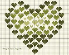 Cross Stitch Heart of Hearts Cross Stitching, Cross Stitch Embroidery, Embroidery Patterns, Hand Embroidery, Cross Stitch Designs, Cross Stitch Patterns, Le Blog De Vava, Valentine Love, Cross Stitch Heart