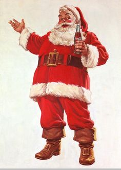 20 vintage Santa Claus illustrations by Coca Cola