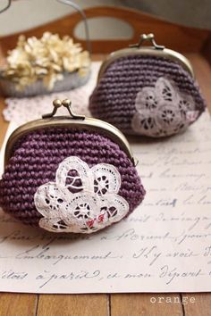 crochet purse- so cute, love these!