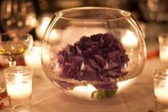 Centerpiece for purple wedding theme