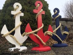 Custom Anchor Wedding Centerpiece Nautical by FromTheCoast2TheCity