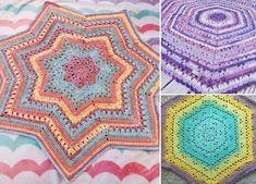 Unique Star Shaped Crochet Blanket - Pattern Center Crochet Blanket Patterns, Crochet Stitches, Star Shape, Crochet Projects, Free Crochet, Chocolate Pudding Cookies, Free Pattern, Crochet Appliques, Shapes