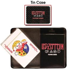 Led Zeppelin - Zoso 2-Pack Playing Cards & Tin by Old Glory. $11.95. This awesome 2-pack of standard playing cards features artwork from Led Zeppelin's 'Zoso'. They come packed in a great collectors tin.