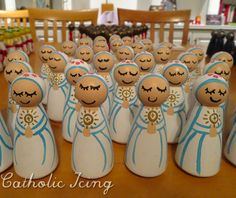 Saint Peg Dolls For Catholic Kids- How To Have An Exchange