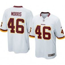Nike Mens Washington Redskins Alfred Morris Jersey 46 Game Team Color White dfe35a664
