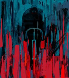 """""""The Night Cyclist"""" by Stephen Graham Jones is a horror novelette about a middle-aged chef whose nightly bicycle ride home is interrupted by an unexpected encounter. illustrated by Keith Negley"""